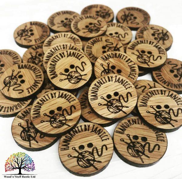 Yarn Button Made From Hardwood